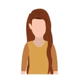 half body silhouette woman with long hair vector image vector image
