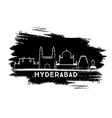 hyderabad india city skyline silhouette hand vector image vector image