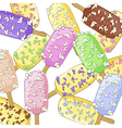 Ice creams on a stick vector image vector image