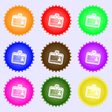 Id card icon sign A set of nine different colored vector image vector image