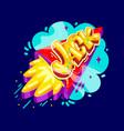 jack name rocket vector image