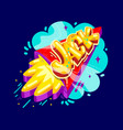 jack name rocket vector image vector image