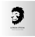lion head - logo template creative animal wild vector image