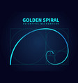 mathematics formula of fibonacci spiral golden vector image