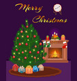 merry christmas greeting card design christmas vector image