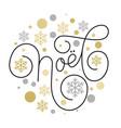 merry christmas joyeux noel french flourish hand vector image