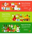 Merry Christmas Web Horizontal Banners vector image
