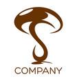 modern mushroom logo vector image vector image
