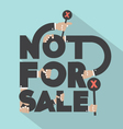 Not For Sal Typography Design vector image vector image