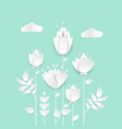 paper cut flowers - modern colorful vector image vector image