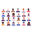 people avatars men and women cartoon character
