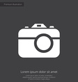 photo camera premium icon white on dark background vector image vector image