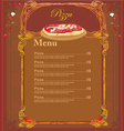 Pizza Menu Template vector image vector image