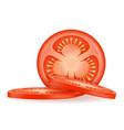 ripe red sliced tomato stock vector image vector image