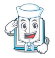 sailor opened book on the cartoon table vector image vector image