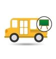 school bus icon blackboard graphic vector image