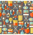 Science seamless pattern in flat design style vector image vector image