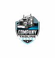 semi trailer truck logo vector image vector image