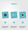 set of pc icons flat style symbols with tablet vector image vector image