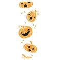 Smiling Halloween pumpkins vertical seamless vector image vector image