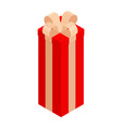 surprise gift box isometric view vector image