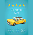 taxi service design detailed of vector image