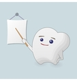 Teaching tooth vector image vector image