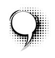 Template comic speech line round bubble vector image vector image