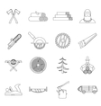 Timber industry icons set outline style vector image vector image