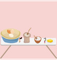 tiny people baking in the kitchen vector image