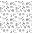 video games outline pattern game seamless vector image vector image