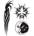 Zodiac Signs - Sun Moon Vinyl-ready set vector image