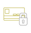 yellow line finance credit card with padlock close vector image
