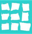 set of paper scraps vector image