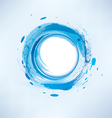 abstract background blue water circle vector image vector image