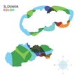 abstract color map slovakia vector image