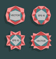 abstract low poly modern labels low poly vector image vector image