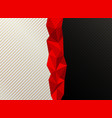 abstract red low polygon white and black contrast vector image vector image
