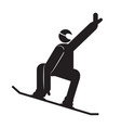 abstract snowboarding symbol vector image