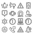 alert warning ntification icons set on white vector image vector image