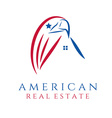 american real estate concept wit eagle and house vector image vector image