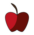 apple delicious fruit vector image