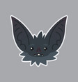 bat sticker emoji of cute vector image vector image
