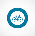 bike bold blue border circle icon vector image