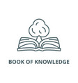 book knowledge line icon book of vector image vector image