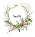 branches and red berries vector image vector image