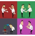 business relations set vector image vector image