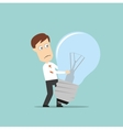 Businessman failed idea light bulb vector image vector image
