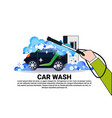 car wash service banner with cleaning vehicle over