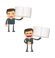 cartoon businessman vector image vector image